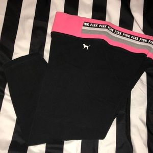 Pink VS crop legging